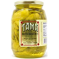 32 Ounce Golden Greek Pepperoncini Peppers in Vinegar and Salt Brine