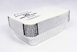 20bandejas con tapa • r1l 830ML • aluminio carcasa 214x 149x 39mm •–Cuenco de aluminio para alimentos • Menú de aluminio • Lunch Box • assietten • Bandejas rígida • aluminio • Lasaña Forma •–Ramequín, 830 ml