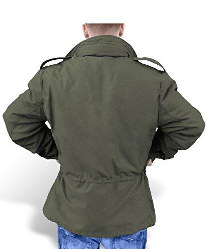 Lunga Oliva Fieldjacket Us Surplus 65 Da Manica Giacca M Uomo ZxSnW1F6f