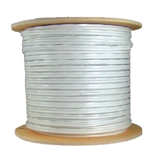 COAXIAL WHITE CABLE RG6 1000FT COAX CATV RG-6 1000' TV BULK by 5 Star Cable