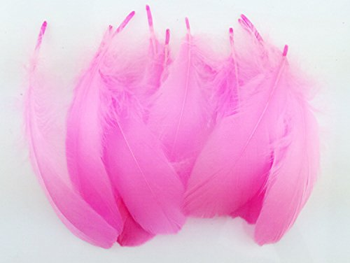 Colorful Goose Feathers, for DIY Craft Wedding Home Party Decorations 50pcs/pack/ (4--7.8 inch) (pink) for $<!--$6.30-->