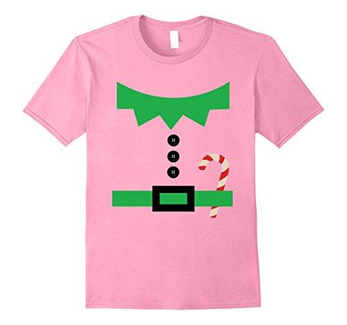 Brilliant Elf Costume (Mens Christmas Elf Costume Shirt - Funny Christmas Tee Elves XL Pink)