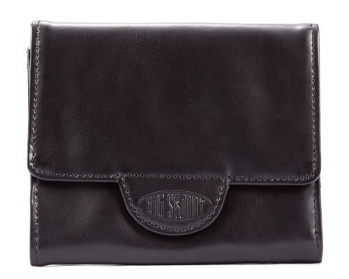 rixie Leather Tri-Fold Slim Wallet, Holds Up to 30 Cards, Black ()
