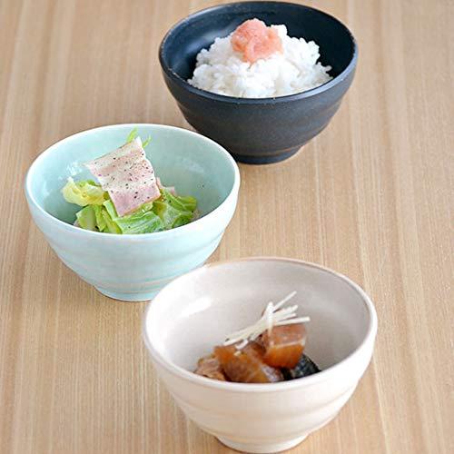 Zen Table Japan Rice Bowl Made in Japan Set of 4 Matte Black