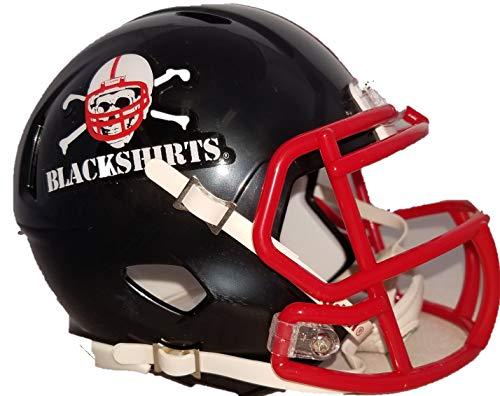 - Riddell NCAA Nebraska Cornhuskers Helmet Mini SpeedHelmet Replica Mini Speed Style Blackshirts Design, Team Colors, One Size