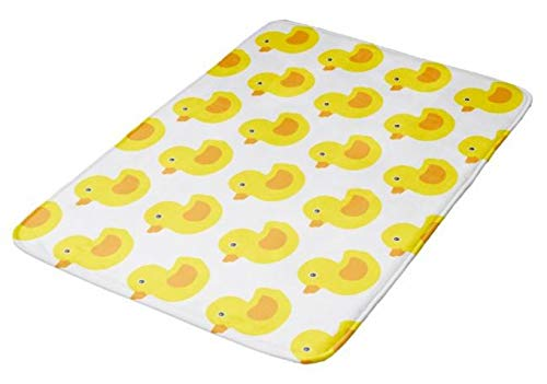 (Aomsnet Adorable Yellow Rubber Ducks Duckies Bathroom Decor Mat, Shower Rug Mat Water Absorbent Fast Drying Kitchen, Bedroom, Hotel, Spa Tub.24 L X 16