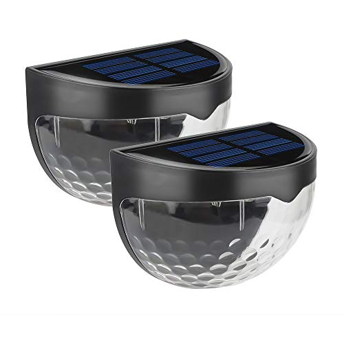 - Cimic Solar Lights Outdoor/Solar Fence Lights/Semi-Circle Wall Mount/with 270° Wide Angle, IP65 Waterproof, Easy-to-Install Security Lights for Front Door, Yard, Garage, Deck, Porch,2 Pack