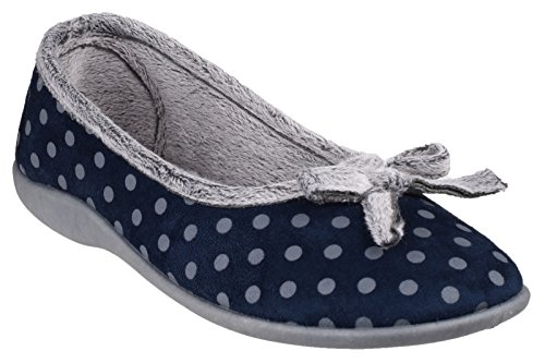 Navy Ladies UK 4 Full Slippers Mirak TOULON 1wZqg