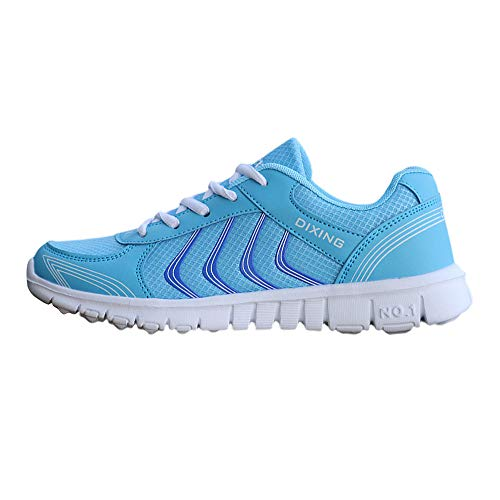 Sneakers Anti dérapage Mode Chaussures Et Femme Sport Fitness Course Lacets Basket Solike De Outdoor Respirants Confortables Bleu Running Gym qwvpXfIF