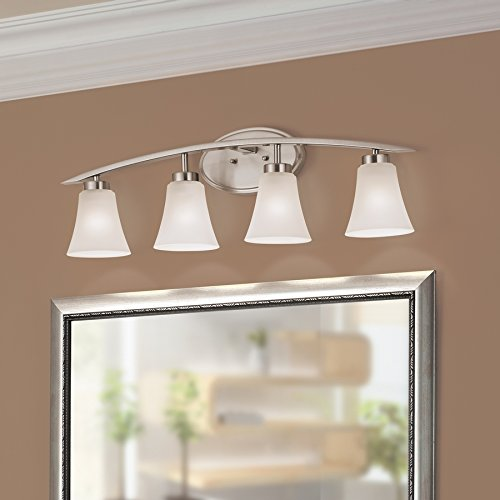 Portfolio 4-Light Lyndsay Brushed Nickel Bathroom Vanity Light ...