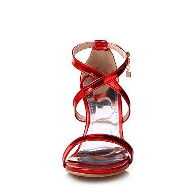 Guantes de PU oro color nbsp;Sandalias morado rojo festivität de para Verano 'orsay y amp; D Oficina de Super tacón vestido de plata dos nbsp; Stöckel Fiesta mujer carmesí vfxqdw