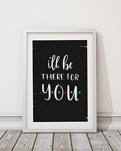 Ill-Be-There-For-You-Wall-Print-or-Poster-Distressed-Black-Background