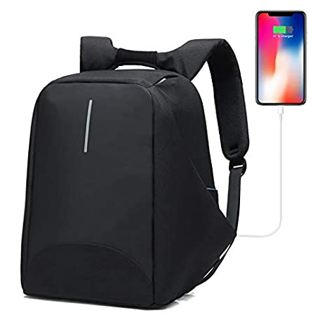 1dac822d6649 Anti-Theft Business Laptop Backpack with USB Charging Port Fits to 15.6  Inch Computer Lightweight Water-Resistant Knapsack Black1 CB0405