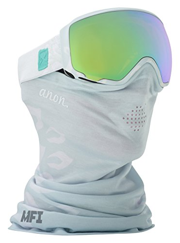 Anon WM1 MFI Snowboard Goggle with Spare Lens Asian Fit, Empress White, One - Goggles Wm1 Anon