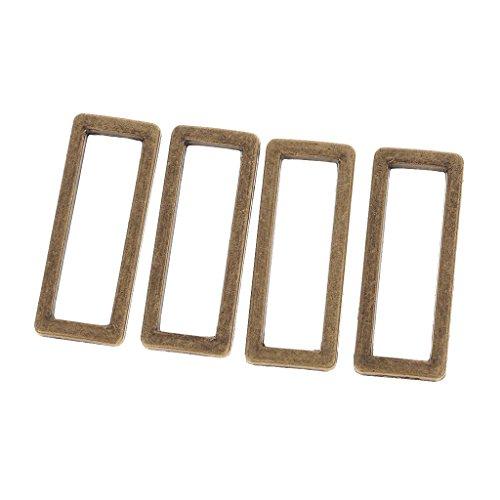 38mm Ring - MonkeyJack Purse Handbag Belt Loop Hook Metal Rectangle Deed Rings 38mm Webbing Belts Square Buckle Pack of 4 - bronze, as described