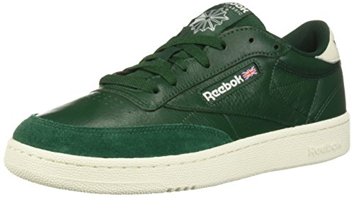 Reebok Men's Club C 85 Walking Shoe, TRC-Dark Green/Chalk, 12 M US