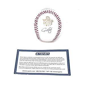 Alex Bregman Houston Astros Signed Autograph Official MLB World Series Baseball Steiner Sports Certified
