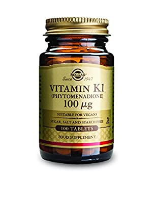 Solgar Vitamin K Tablets, 100 mcg, 100 Count