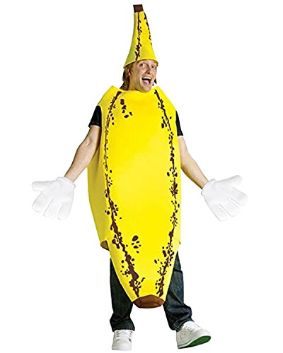 Chiquita Banana Woman Halloween Costume (Aifang Halloween Christmas Men's Sesame Banana Costume Suit Lightweight Fruit Banana Cosplay for Adult)