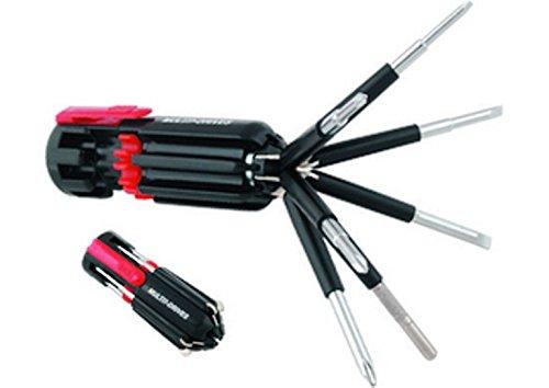 Destornillador 8 en 1 multiusos magn/ético port/átil con linterna de 6 Leds