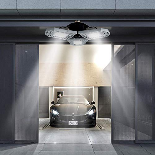 Led Garage Ceiling Light Indoor Deformable Light 6000lm