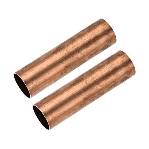 uxcell 銅丸管28mm外径1mm壁厚さ100mm長さ中空直管チューブ2個