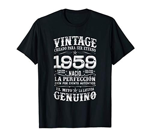 Mens Vintage 59th Birthday Gift 59 Years Old Born in 1959 T Shirt
