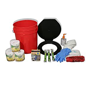 71641 Ready America Lockdown Toilet Bucket Kit, 4-10 Persons