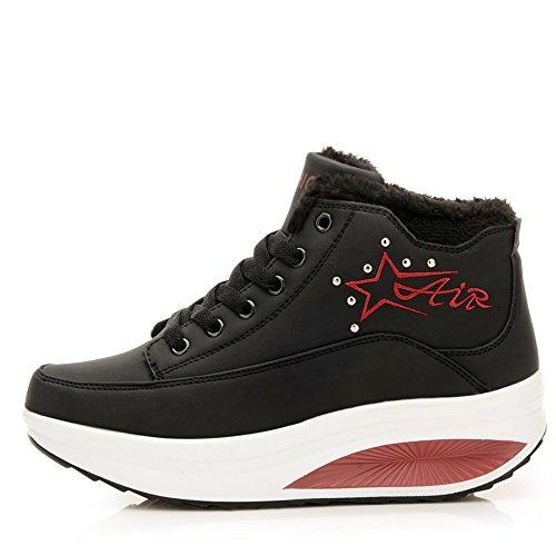 Sport Hiver Running Fitness Balançoire Compensées Chaussures de Peluche Baskets Eagsouni® Casual Anti choc chaud Femme Gym q5nZPH