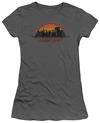 Juniors: Battlestar Galactica - Caprica City Juniors (Slim) T-Shirt Size L - Battlestar Galactica Caprica City