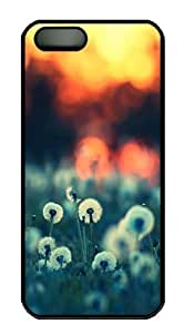 IMARTCASE iPhone 5S Case, Dandelions At Sunset PC Black Hard Case Cover for Apple iPhone 5s/5