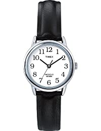 Timex Women's 20441 Easy Reader Black Leather Watch