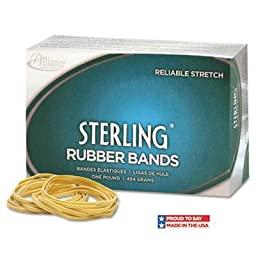 Alliance - 4 Pack - Sterling Ergonomically Correct Rubber Bands #32 3 X 1/8 950 Bands/1Lb Box \