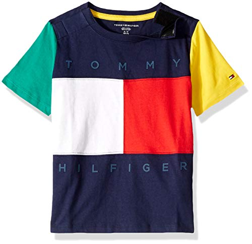 1bc6f207 ... Tommy Hilfiger Boys' Adaptive T Shirt with Velcro Brand Closure at  Shoulders, Peacoat, ...