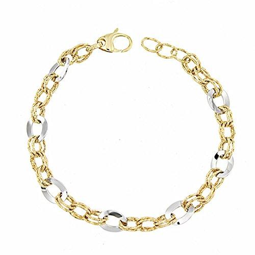 Bracelet 18k gold 21cm bicolor. [AA1676]