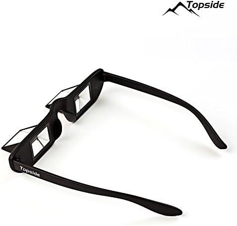 TOPSIDE Gafas asegurar Escalada: Total Transparencia, Prisma 90°, Incluye Funda rígida Protectora a Prueba de Golpes, Funda de Tela, Cinta para el ...