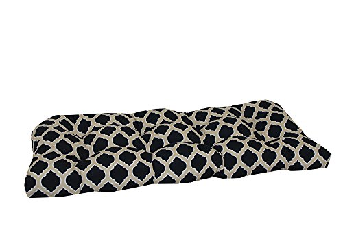 Brentwood Originals Indoor/Outdoor Loveseat Cushion Brentwood, Byzantine Black, 1 piece (Brentwood Cushions)
