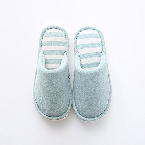 Hommes Plat Chaussures Chaud Chaussons Bleu2 et Pantoufles Chaussures Anti Derapant Tongs Femmes d'hiver rpxr6qwP