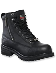 Milwaukee Motorcycle Clothing Company Accelerator Leather Womens Motorcycle Boots (Black, Size 10.5C)
