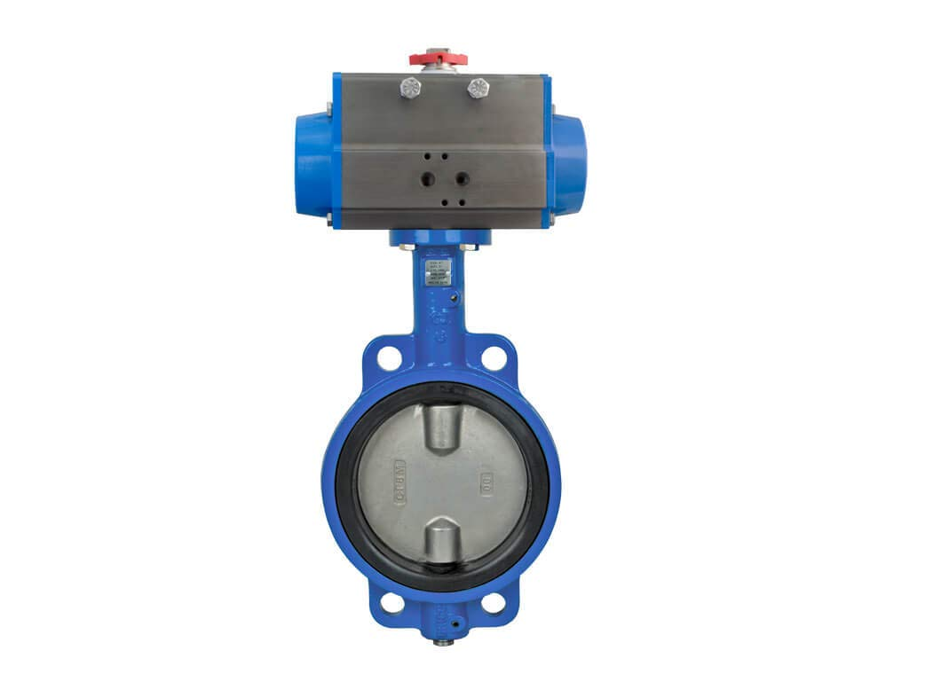 2'' Bonomi SR500S - Wafer Style, Epoxy Coated Cast Iron, Stainless Disc, Butterfly Valve with Spring Return Actuator