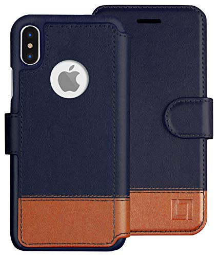 (LUPA iPhone Xs Wallet case, iPhone X Wallet Case, Durable and Slim, Lightweight, Magnetic Closure, Faux Leather, Desert Sky, for Apple iPhone Xs/X)