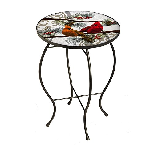 Evergreen Table (New Creative Seasonal Cardinals Glass Patio Table)