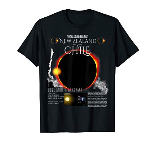 (Chile Eclipse shirt Total Solar 2019 2 july t-shirt)