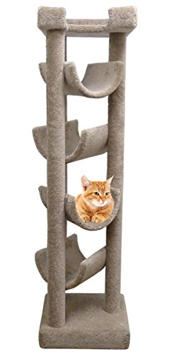 Carpeted Cat Tree Skyscraper, Beige ()