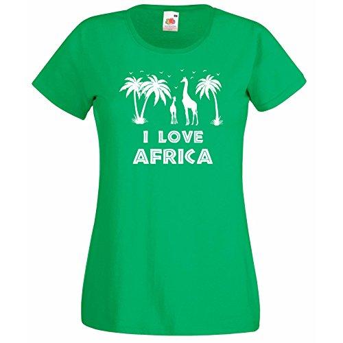 I Silhouettes shirt Love Femmes Palmiers Avec Girafes Décalque T Vert Girafe Afrique Oiseaux Gratuit Citation amp; Cadeau Modèle 0qwP417d