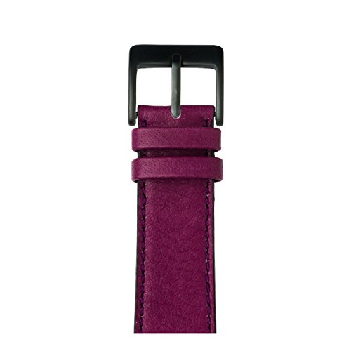 Roobaya | Premium Sauvage Leather Apple Watch Band in Purple | Includes Adapters matching the Color of the Apple Watch, Case Color:Space Gray Aluminum, Size:38 mm by Roobaya