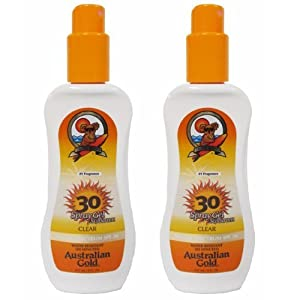 2 Pack SPF 30 Clear Spray Gel Sunscreen