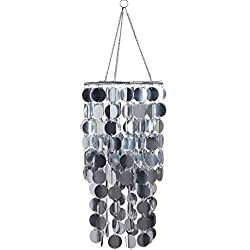 FlavorThings Silver Bling Hanging Chandelier,Spangle Chandelier,Great idea for Wedding Chandeliers Centerpieces Decorations and Any Event Party Home Decor