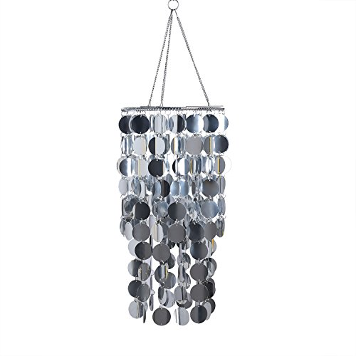 FlavorThings Bling Hanging Chandelier Great idea for Wedding Chandeliers Centerpieces Decorations and Any Event Party Decor (Silver) ()