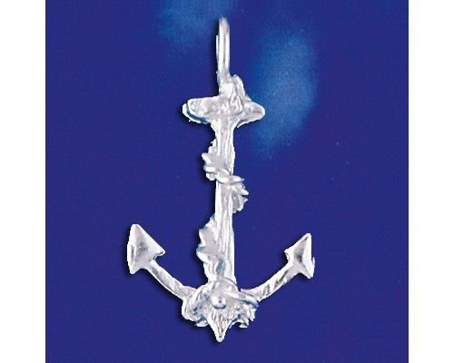 Sterling Silver Anchor Pendant Sailor Ocean Ship Boat Charm Solid 925 Italy New Jewelry Making Supply Pendant Bracelet DIY Crafting by Wholesale Charms
